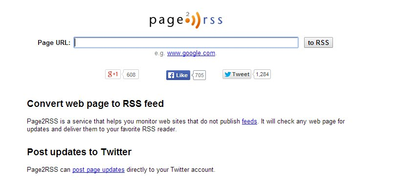 Page RSS Search