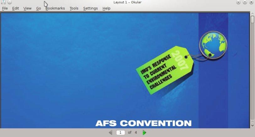 IMG: Default look of Okular PDF reader