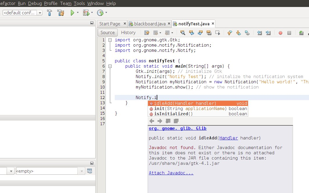 Netbeans UI in Ubuntu editing a java file